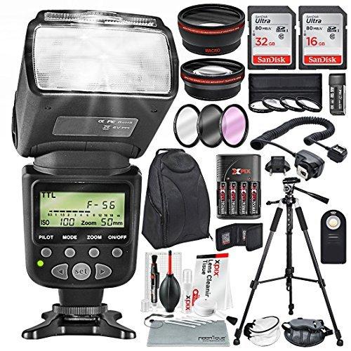 Photo Savings 58Mm 2.2X Telefoto E 0.43X Grande Angular Hd Com Slr Af Power Zoom Flash E Acessórios De Limpeza Xpix + Kit Profissional Para Canon Rebel(T6S T6I T6 T5I T4I T3I T3), Eos(700D 650D 600D