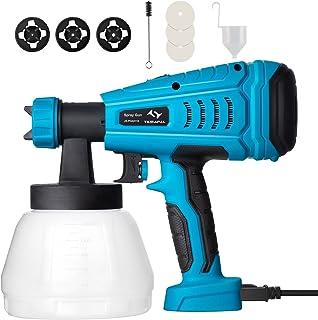 Pistola de Pintura 550W Tilswall de Flujo 1200 ml/min, Pistola para Pintar Pintura de 120 Din/s, con Recipiente de 1300ml ...