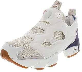 Reebok Mens Instapump Fury CNY17 Leather Fashion Sneakers White 8.5 Medium (D)
