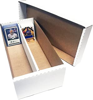 (10) Shoe 2 Row Storage Box (1600 Ct.) - Corrugated Cardboard Storage Box - Baseball, Football, Basketball, Hockey, Nascar, Sportscards, Gaming & Trading Cards Collecting Supplies by MAX PRO