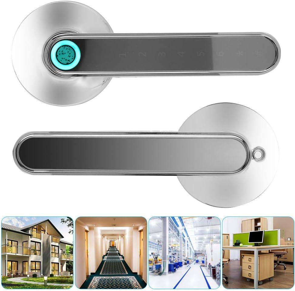 per case//appartamenti//hotel Impronta digitale intelligente Serratura della porta Impronta digitale biometrica senza chiave//APP//password Sblocco rapido 0,5 secondi password di 20 gruppi Argento