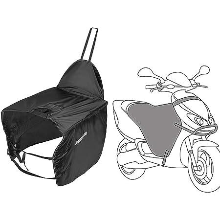 kemimoto バイク レッグカバー スクーター シートカバー/レッグカバー 防寒レッグカバー ハンドルカバー 裏起毛 足元防寒 撥水 ひざ掛け 取り付け簡単 ブラック タイプ2