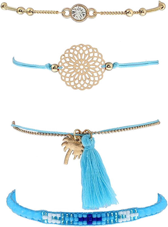 Bohemian Bracelets for Women Multilayer Bracelet Best Friends Friendship Bracelets Birthday Christmas Graduation Gifts for Girls Teens