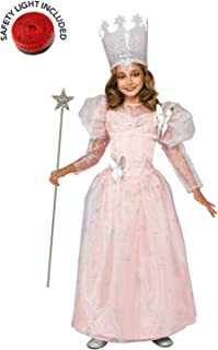Wizard Of Oz Glinda Costume Kit Deluxe With Safety Light - Kids L