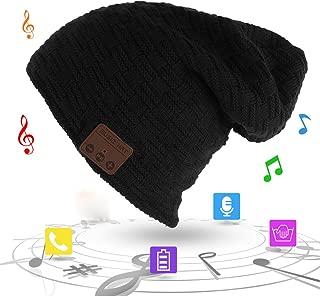 Unisex Trendy Warm Bluetooth Beanie Hat Winter Knit Cap with Wireless Headphone Headset Speaker Mic Hands-Free Valentine's Day for Winter Outdoor Sport Skiing Snowboard Jogging Hiking