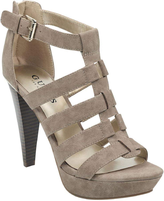 Guess Factory Women's Nancee Gladiator Platform Heels