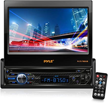 "Single DIN Head Unit Receiver - In-Dash Car Stereo with 7"" Multi-"