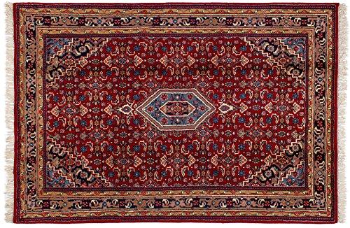 Lifetex.eu Teppich Bidjar ca. 165 x 245 cm Rot handgeknüpft Schurwolle Klassisch hochwertiger Teppich
