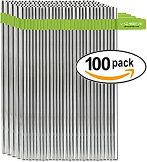 U-Konserve - Stainless Steel Straws, Environment Friendly Alternative to Plastic Straws, Durable Stainless Steel, BPA-Free (Standard, 100-Pack)