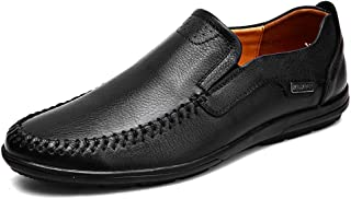2019 Mens New Lace-up Flats Oxford Shoes for Men Formal Shoes OX Leather Slip On Style Round Toe Comfortable Durable Low Top (Hollow Optional)