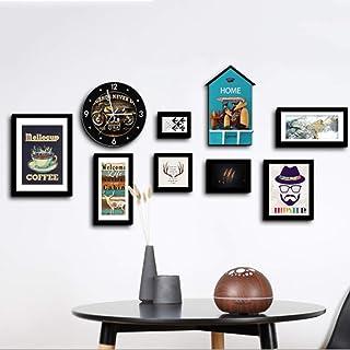 Gran Pantalla de tamaño Grande Marco de Fotos Sala de Estar Marco de Fotos Collage Dormitorio Pared de Fotos Madera Maciza...