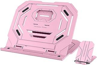 360 ° roterende bodem laptop stand tien hoogte aanpassingsnotitieboekje staan voor laptop houder koelpad (Color : Pink)