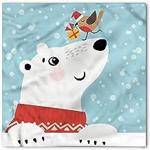 Christmas Bandana, Polar Bear and Tiny Bird, Unisex Head and Neck Tie