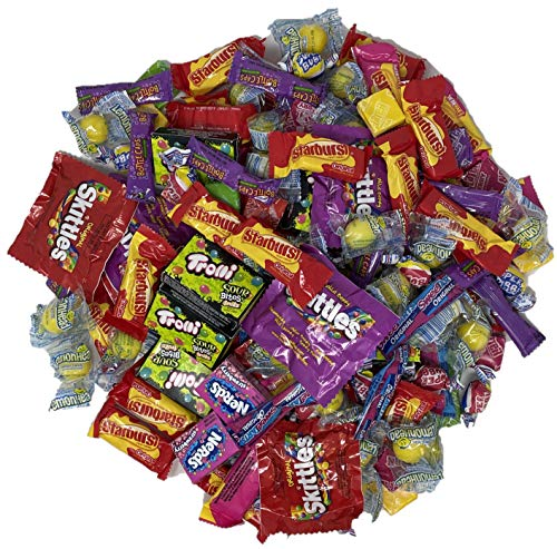 Assorted Bulk Candy, Individually Wrapped: 2 LB Bag Variety Pack with Skittles, Laffy Taffy, Starburst, Sweetarts, Gobstopper, Nerds & More! Great for Holiday and Party Treats!