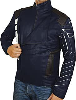 Barnes Wolf Bucky Soldier White Infinity Winter War Jacket