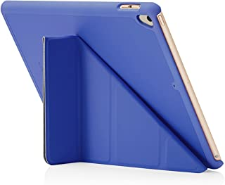 "Pipetto Origami iPad Case 9.7"" (2017/2018) 6th Generation & Air 1 with 5 in 1 Stand & auto Sleep/Wake Function Royal Blue"