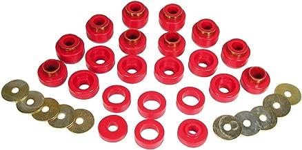 Prothane 1-105 Body Mount Bushing Kit for YJ, Red, 22 Piece