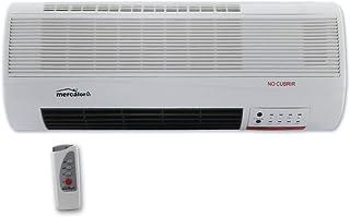 comprar comparacion MT - Calefactor electrico de pared mini. mando a distancia. 2 potencias: 1.000/2.000 w. funcion solo ventilador. 51,5x38x4...