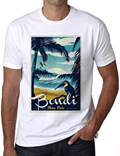 Ultrabasic® Men's Graphic T-Shirt Pura Vida Beach Name Vintage Bondi