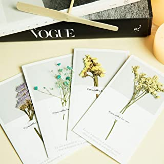 Dried Flowers Greeting Card Christmas Greeting Card Birthday Thanksgiving Valentine's Day Floral Greeting Card Thanksgiving Christmas Greeting Card (10Pcs) 916Cm
