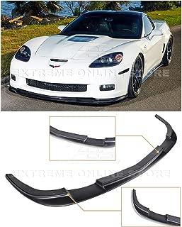 Extreme Online Store EOS ZR1 Style ABS Plastic Primer Black Front Bumper Lower Lip Splitter for 2005-2013 Chevrolet Corvette C6 Z06   Grand Sport