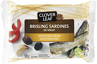 Clover Leaf Brisling Sardines Mediterranean, 12 Count