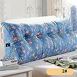 APcjerp Cabecera del Respaldo de la Almohadilla de la Cintura del triángulo del cojín Almohada Suave del Bolso del sofá del Dormitorio (Color: B, Dimensiones: 200 × 23 × 50 cm) Hslywan
