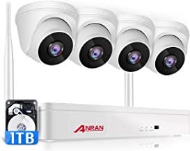 ANRAN Wireless Security Camera System 1080P with 1TB Hard Drive,8 Channel Surveillance NVR Kits 4Pcs 2.0MP Night Vision Ho...