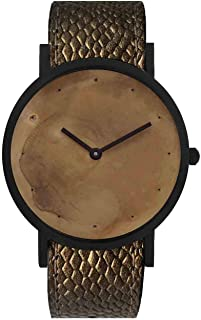 South Lane Swiss Quartz Stainless Steel and Leather Casual Watch, Color:Black (Model: core-SL-64)