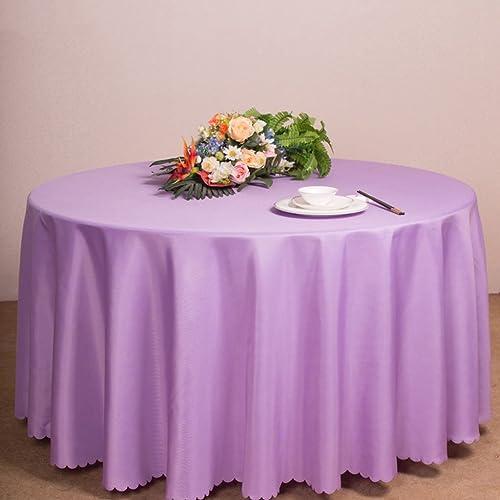 William 337 Runde Tischdecken - Wohnzimmer Couchtisch Hotel Tischdecken - Hochzeit Ort Tischdecke Volltonfarbe - langlebig, Rutschfest (Farbe   B, Größe   Round- 300cm)