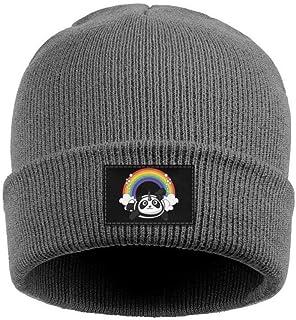 9ea223e72a4 Unicorn Cute Panda Flying Mens Warm Knit Cap Pattern Wool Beanie Hats for  Womens