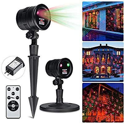 Excelvan Projection LED Lights for Christmas, Halloween, Holiday, Wall Motion Decoration