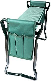 Schramm® Garten Arbeitshocker Gartenhocker beidseitige Arbeitstaschen klappbar Sitzbank..