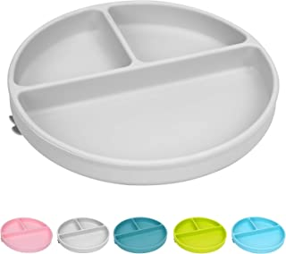 Sponsored Ad - Suction Baby Plate Bowl for Baby and Toddle - Divided Siicone Plate,100% Food-Grade Silicone,Microwave, Dis...