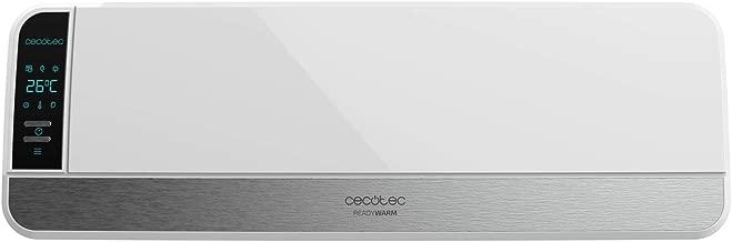Cecotec Calefactor Cerámico de Pared Ready Warm 5250 Swing Box Ceramic. Pantalla Digital, Oscilación, IPX2, Mando a Distancia, Temporizador, 3 Modos, Protección sobrecalentamiento, 2000 W
