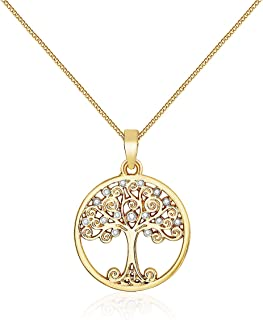 Mestige Women's Gold Enlightened Tree of Life Necklace - MSNE3342