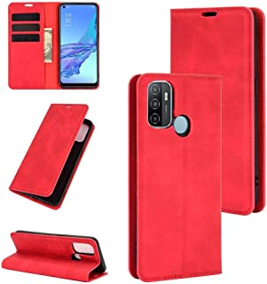 Funadd Cellphone Protective Case, Compatible for OPPO A53 2020/OPPO A32 2020 Retro-skin Business Magnetic Suction Leather ...
