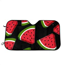 LAIUE Cartoon Watermelon Auto Sun Shade for Windshield UV and Sun Protection for Cars Trucks Vans SUVs Foldable Sunshade for Car Windshield Will Keep Your Car Cooler
