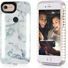 Vanjunn Selfie Led Light Case for iPhone 6s / 6/7 / 8 Case - for Cell Phone with Rechargeable Backup Light (Stone Black)