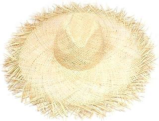 Whiie891203 Sombreros De ala Ancha para Disquete para Mujeres Damas Verano Paja Sombrero De Sol Accesorios De Playa para V...