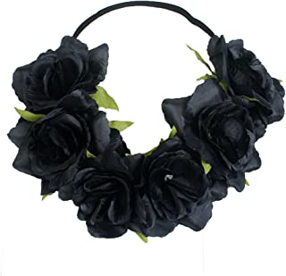 Floral Fall Rose Holiday Crown Festival Headbands Hippie Flower Headpiece F-53