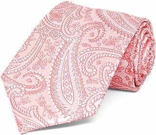 TieMart Boys' Coral Clara Paisley Necktie