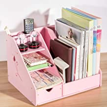 Multifunctionele Plastic Binnenlandse Zaken Storage Holder Wit Roze Desk Organizer Office Tafel Accessoires for Documents ...