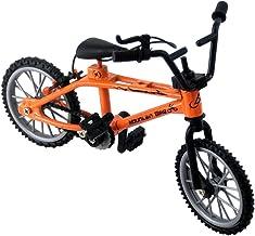 Gwendoll Mini-Dedo-BMX Set Fans de Bicicleta Juguete Aleación Dedo BMX Funcional Kids Bicicleta modle Dedo Bicicleta BMX Juguetes Regalo (Amarillo)