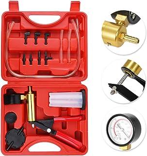 comprar comparacion KKmoon 7pcs Profesional de Mano Bomba, 2 en 1 Kit de Probador de Compresión de Presión de Vacío Freno Sangrado Adaptador P...
