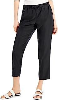 ALFANI Womens Black Cropped Pants AU Size:22