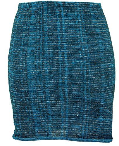 GURU SHOP Minirock, Strickrock, Ethnorock, Damen, Türkis, Baumwolle, Size:36, Röcke/Kurz Alternative Bekleidung