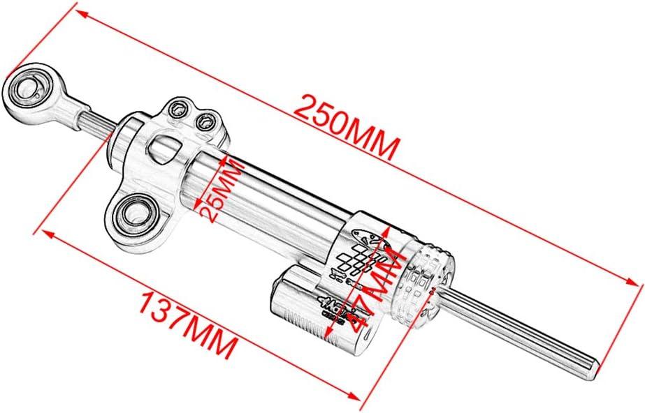 YOUFUDE Ammortizzatore dello Stabilizzatore di Sterzo Staffa di Montaggio in Alluminio CNC per Moto Adatta per K-TM Duke 125 200 390 2014 2016 2013-2018
