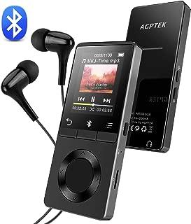 AGPTEK Bluetooth対応 mp3プレーヤー 内蔵スピーカー FM/録音ショートカットボタン付 ロスレス音質 デジタルオーディオプレイヤー 8つボタン&独立音量ボタン 内蔵8GB 128GBマイクロSDカードBに対応可 ブラック M6B