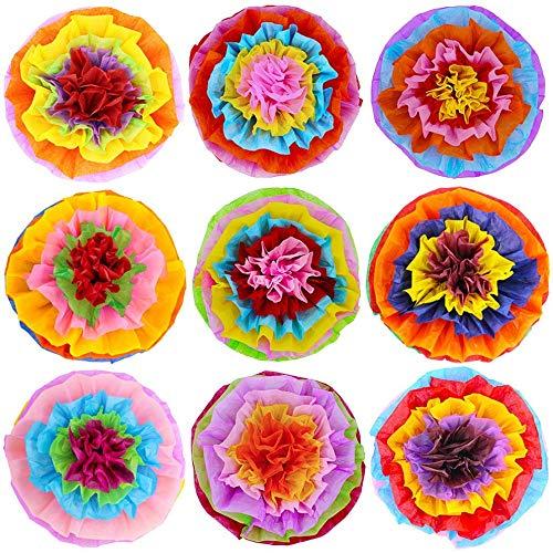 JoyTplay Cinco De Mayo - 10 pompones de papel para decoración de fiestas, mexicanos, fiestas de cumpleaños, bodas o fiestas, 16 pulgadas